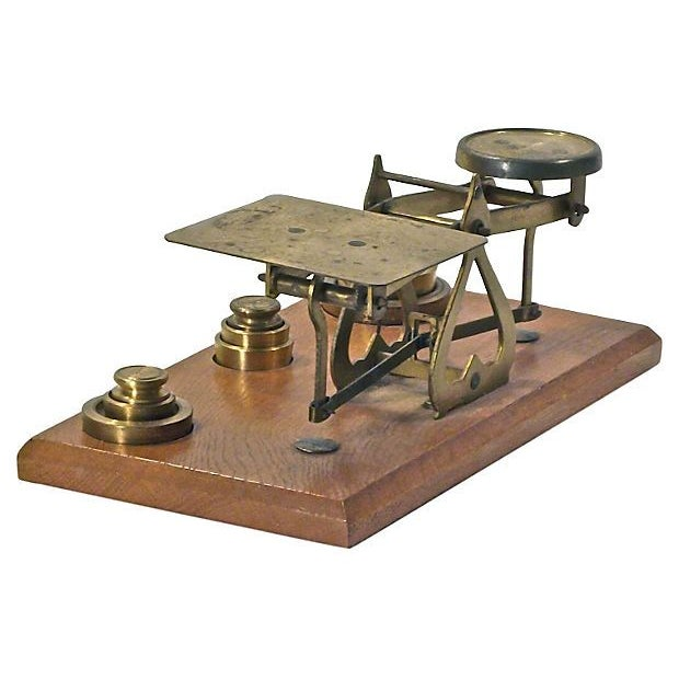 Antique Brass Scale - Image 2 of 2