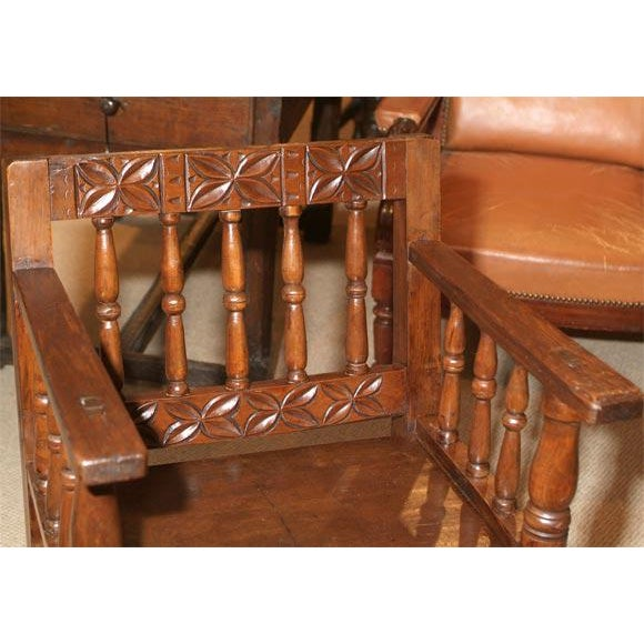 Mediterranean 1860s Spanish Colonial Armchair For Sale - Image 3 of 5