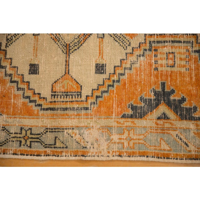 "Vintage Distressed Oushak Rug Runner - 2'9"" X 5'3"" For Sale In New York - Image 6 of 10"