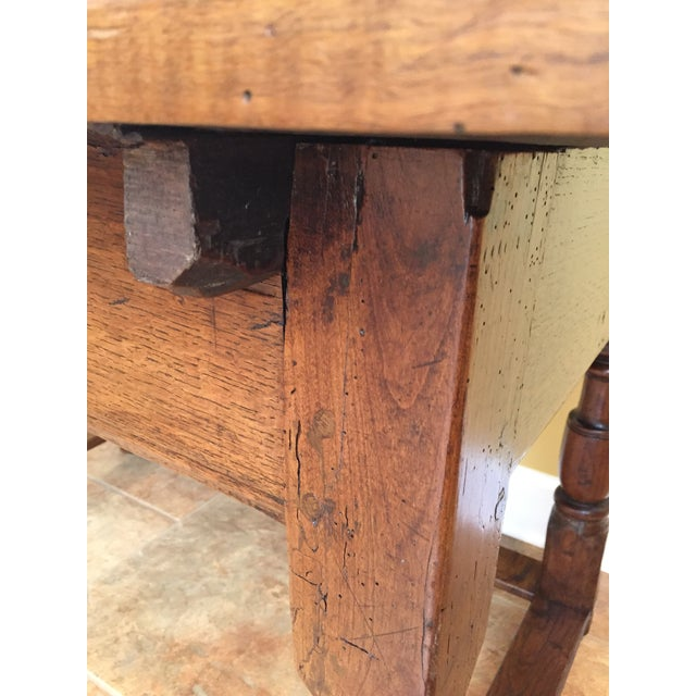 Antique Hand Hewn Mahogany Table For Sale In Atlanta - Image 6 of 12