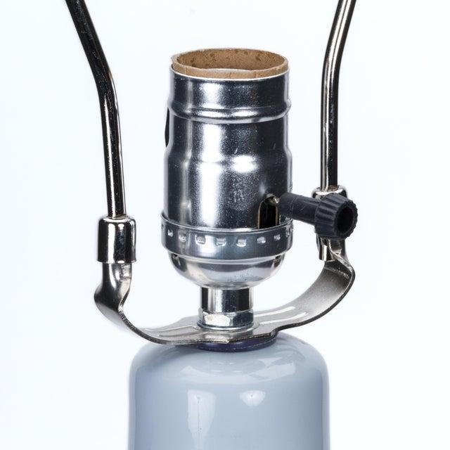 Casa Cosima Casa Cosima Double Gourd Table Lamp, Stinson Blue/Blue Danube Shade, a Pair For Sale - Image 4 of 7