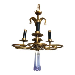 Petite 1950s Florentine Chandelier For Sale