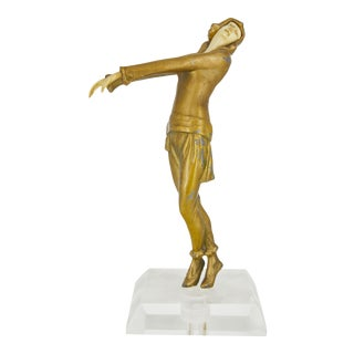 Art Deco Dancing Lady Statue For Sale