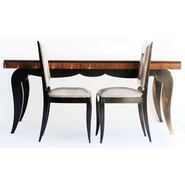 Art Deco Dining Table & 8 Chairs - Style of Leleu - Image 6 of 10