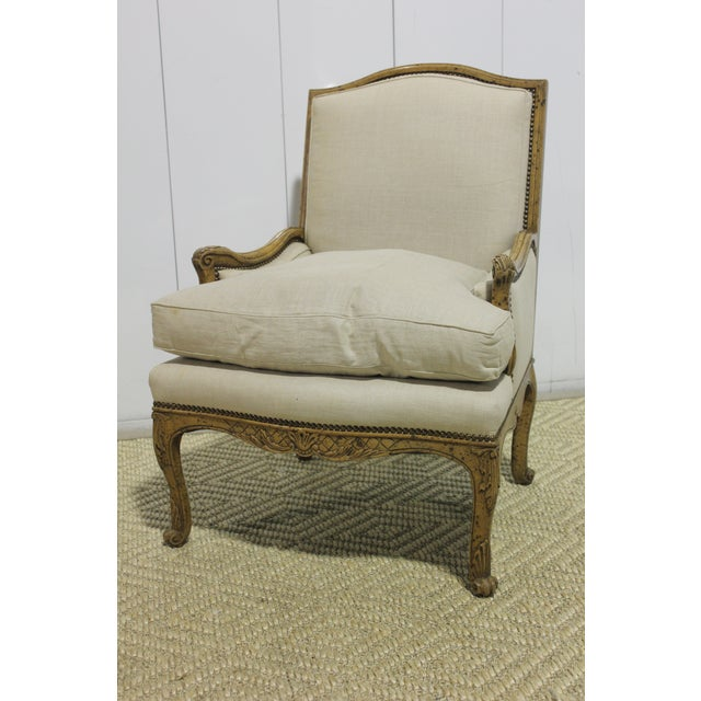 Taupe Early 20th Century Vintage Yale R. Burge Arm Chair For Sale - Image 8 of 8