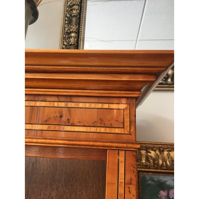 Wood English Yewood Double Bookcase For Sale - Image 7 of 9