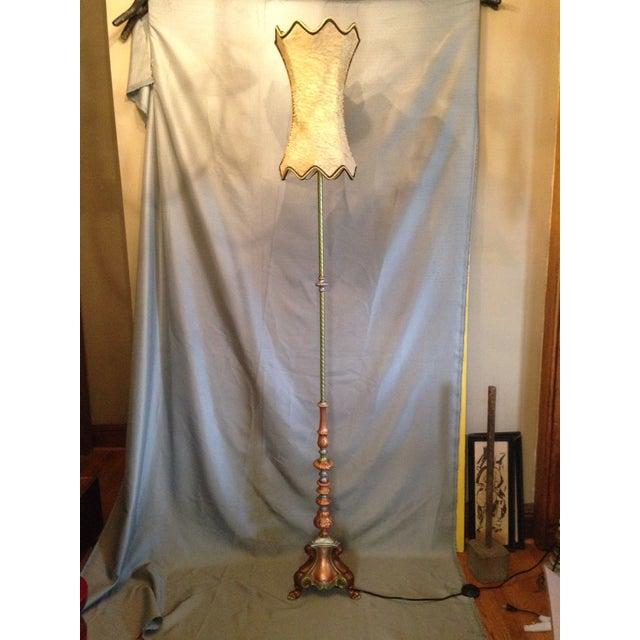 Retro Cornucopia Handpainted Floor Lamp - Image 4 of 7