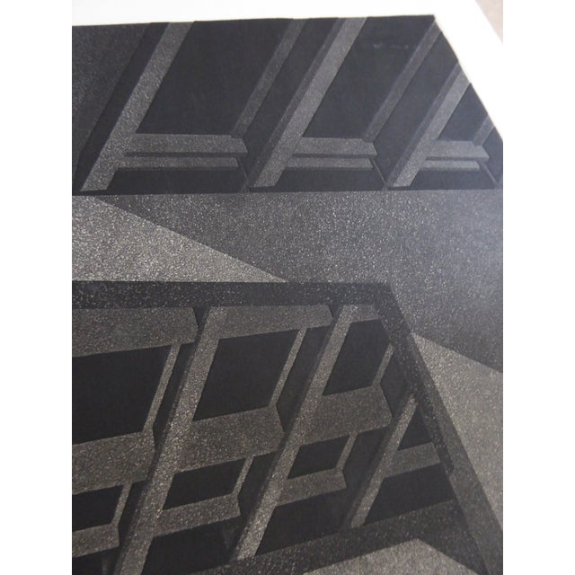 "Original Modern Industrial Graphic Silkscreen, ""Underpass #1"" - Image 4 of 5"