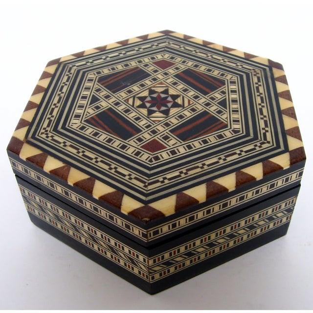 Boho Chic Inlay Wood Box - Image 5 of 8
