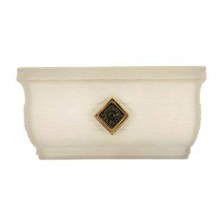 Waldorf Art Deco Style Sconce With Slip Shade Glass For Sale