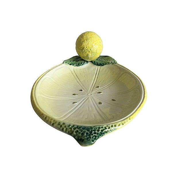 Italian Majolica Lemon Platter For Sale In Austin - Image 6 of 8