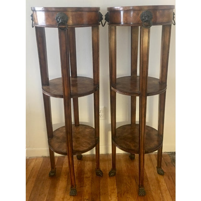 Theodore Alexander Tall Regency Tiered Columns - a Pair - Image 9 of 9