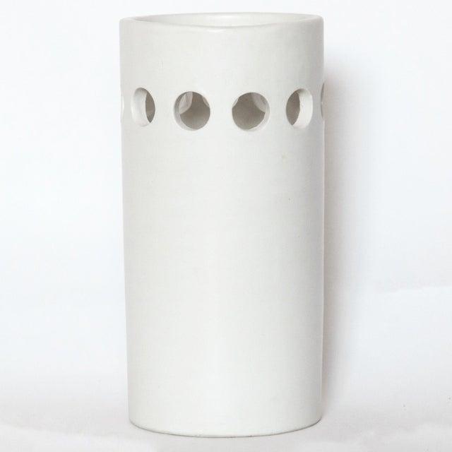 Rosenthal Netter White Bitossi for Rosenthal Netter Vase For Sale - Image 4 of 8