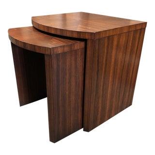 Ethan Allen Mahogany Nesting Tables - a Pair