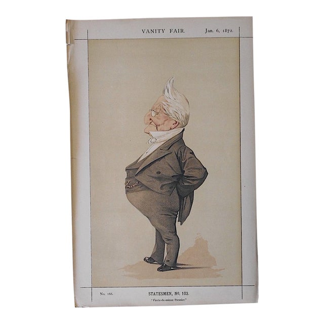 Antique Vanity Fair Lithograph - Image 1 of 3