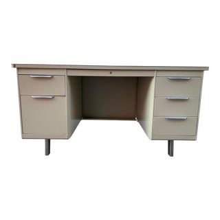 General Fireproofing Co Metal Tanker Desk For Sale