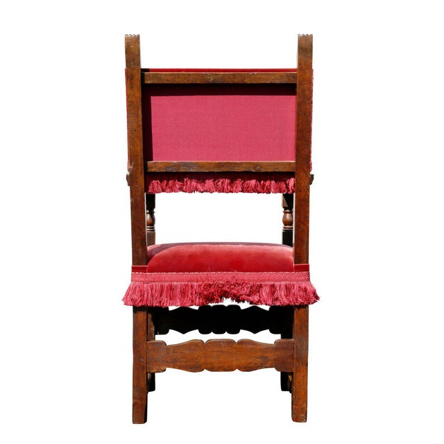 Assembled Set of Six Italian Baroque Walnut Dining Chairs For Sale - Image 10 of 12