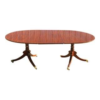 Small Regency Two-Pedestal Mahogany Dining Table