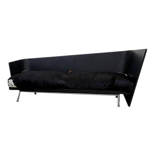Felicerossi Asymmetrical Leather Wrapped Argentine Cowhide Sofa For Sale