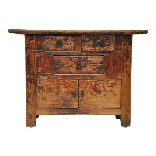 Antique Chinese Country Cabinet with Original Patina For Sale