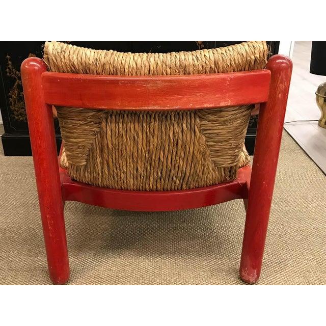 Mid Century Signed Cassina Italian Carimate Chair - Rush Seat - Image 6 of 8