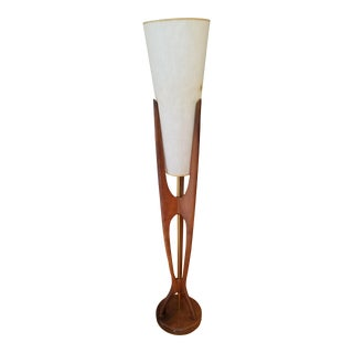 1960s Mid-Century Modern Danish Teak Floor Lamp by Modeline in Adrian Pearsall Style For Sale