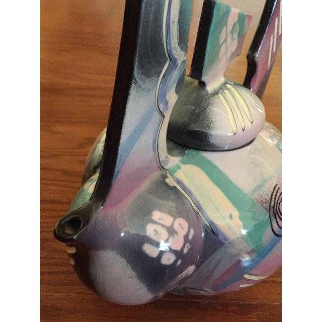 2010s Tom Hubert Handmade Porcelain Teapot - Master Ceramist Professor Fine Arts For Sale - Image 5 of 11