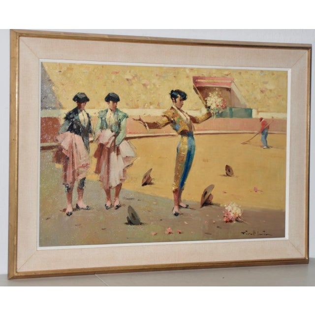 Joan Giralt-Lerin (Spain, 20th C.) Toreador Oil Painting C.1950 For Sale - Image 10 of 10