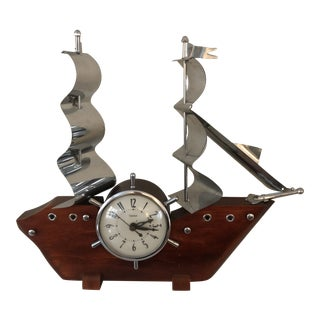 Mid Century Ship Clock For Sale