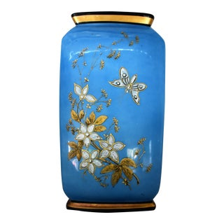 Hand Painted Blue Vase