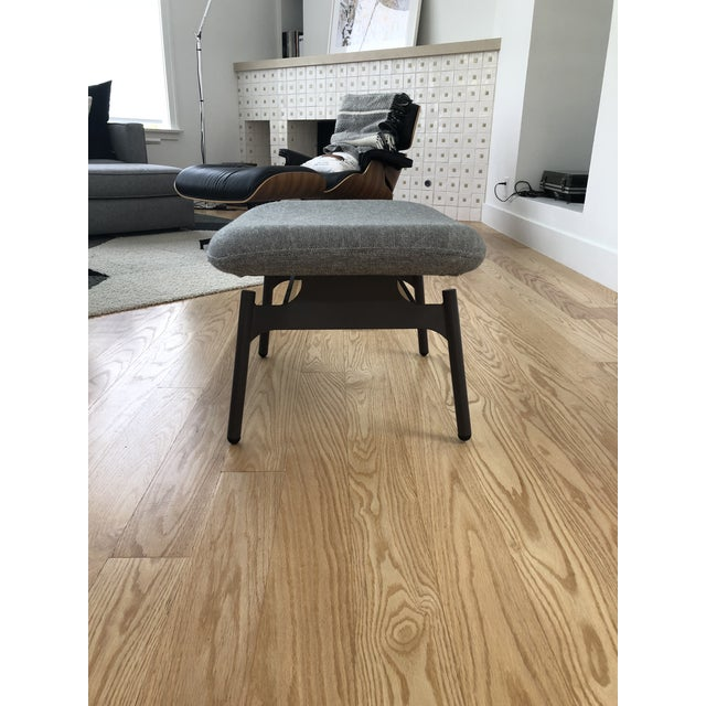 Metal Blu Dot Charcoal Wool Field Lounge Chair & Ottoman For Sale - Image 7 of 11