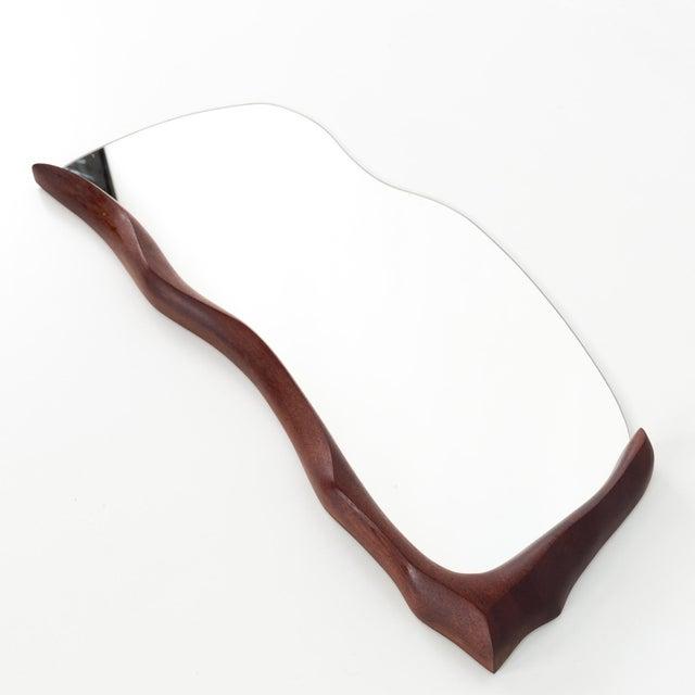 Mid-Century Modern 1960s Mid Century Modern Wabi-Sabi Teak Mirror For Sale - Image 3 of 7