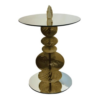Abacus Olive Accent Table For Sale
