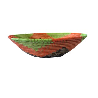 "Handmade Woven Wolof Basket From Senegal 16.5"" in Diameter Preview"