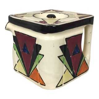 Vintage Revelation Japanese Made Square Ceramic Tea Pot For Sale