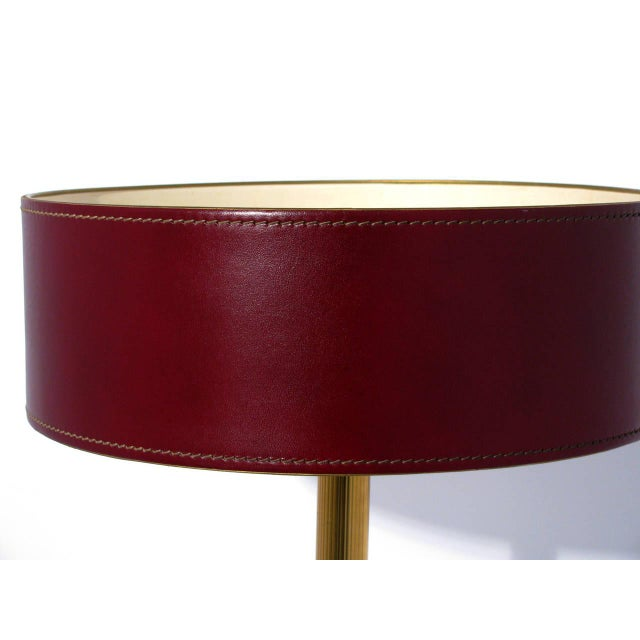 Jacques Adnet Leather-Clad Table Lamp - Image 6 of 8