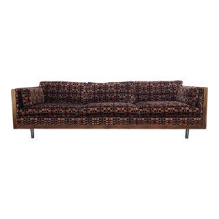 1970s Vintage Milo Baughman Rosewood Case Sofa For Sale