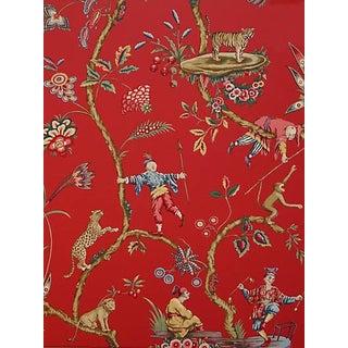 Scalamandre Chinoise Exotique Wallpaper, Tomato For Sale