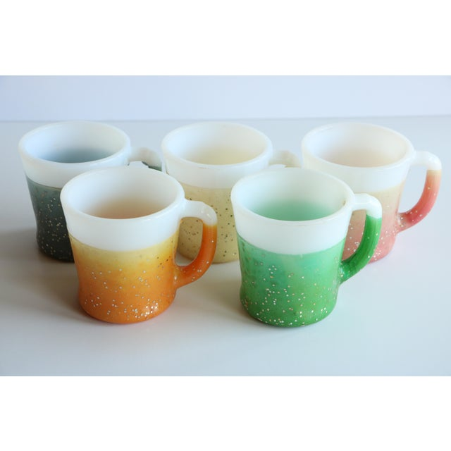Glamalite Glitter Mugs in Caddy by Fire-King - Set of 8 - Image 5 of 11
