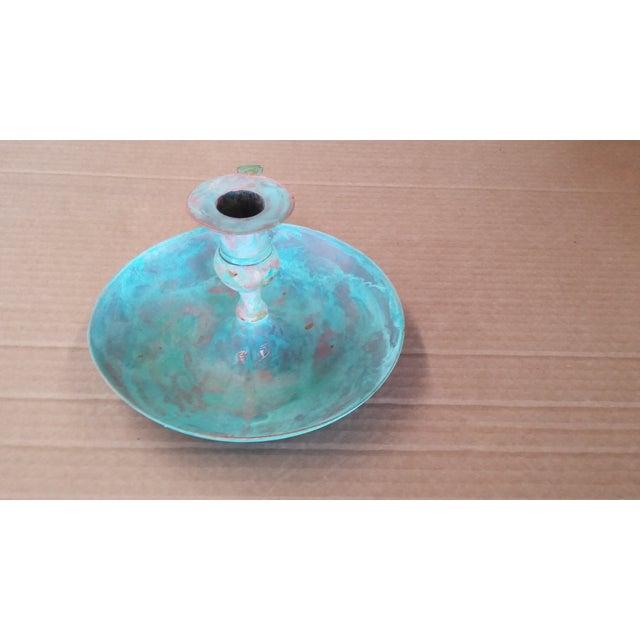 Vintage Bronze Candle Holder I For Sale - Image 5 of 5