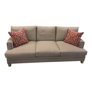Transitional Sofa & Accent Pillows For Sale