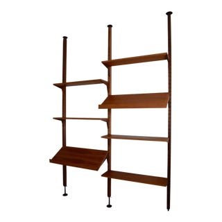 Mid Century Modern Teak Cado Tension Wall Unit Modular For Sale