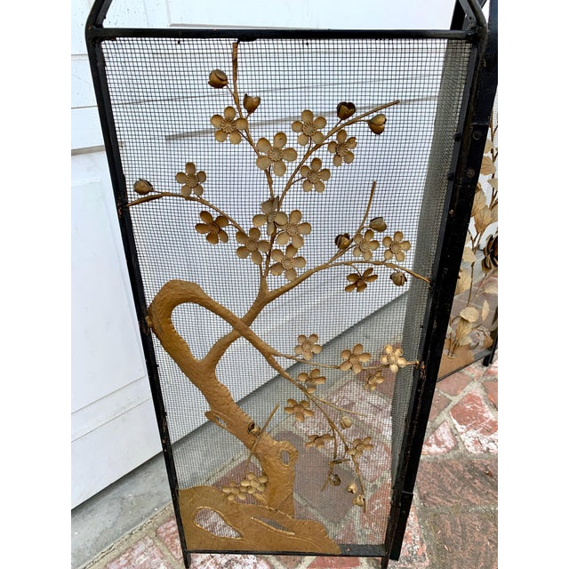1920s Victorian Floral Fireplace Screen For Sale - Image 5 of 9