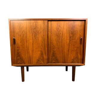 1960s Scandinavian Modern Rosewood Storage Cabinet For Sale