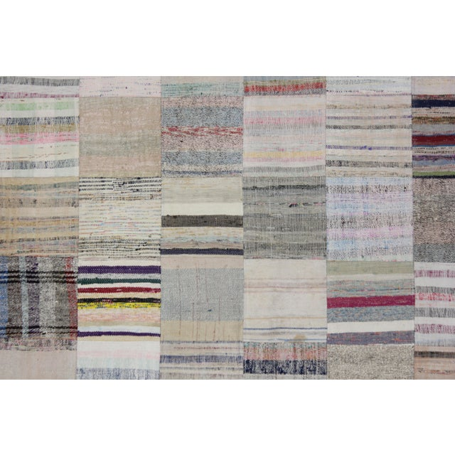 """Hand Knotted Patchwork Rug by Aara Rugs Inc. - 7'9"""" X 5'6"""" - Image 2 of 3"""