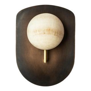 Gil Melott Bespoke Luz Sc Form 19 Bronze and Alabaster Sconce For Sale