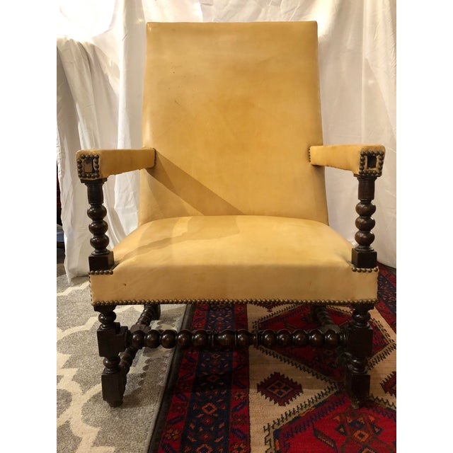 Wood Louis XIII Period Arm Chair For Sale - Image 7 of 7