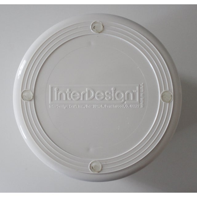 InterDesign White Plastic Desk Organizer New Old Stock Modern For Sale - Image 5 of 6
