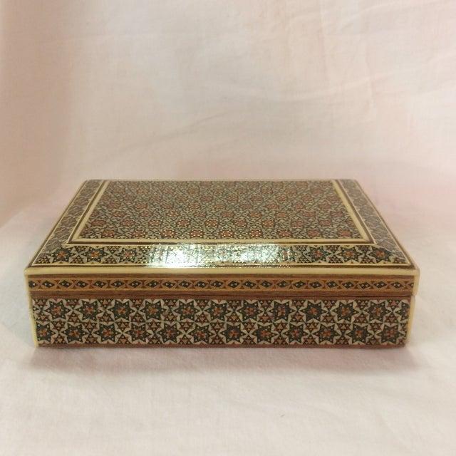 Persian Wood Inlay Box - Image 5 of 10