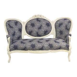 Vintage Settee with John Robshaw Upholstery